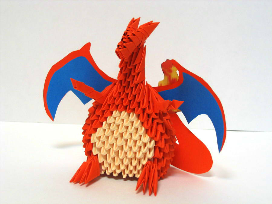 3d origami charizard by pandanpandan on deviantart