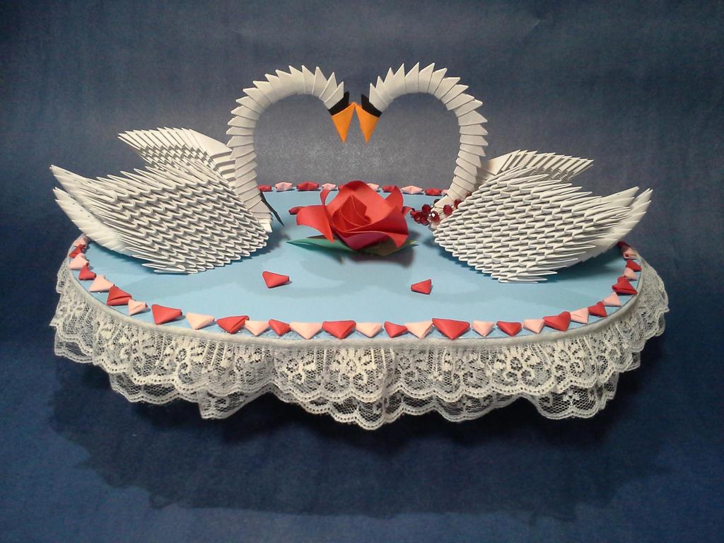3 D Origami Wedding Swans By Pandanpandan