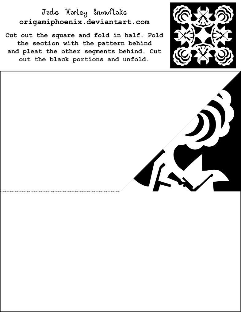 Jade Harley Snowflake PrintOut by OrigamiPhoenix on DeviantArt