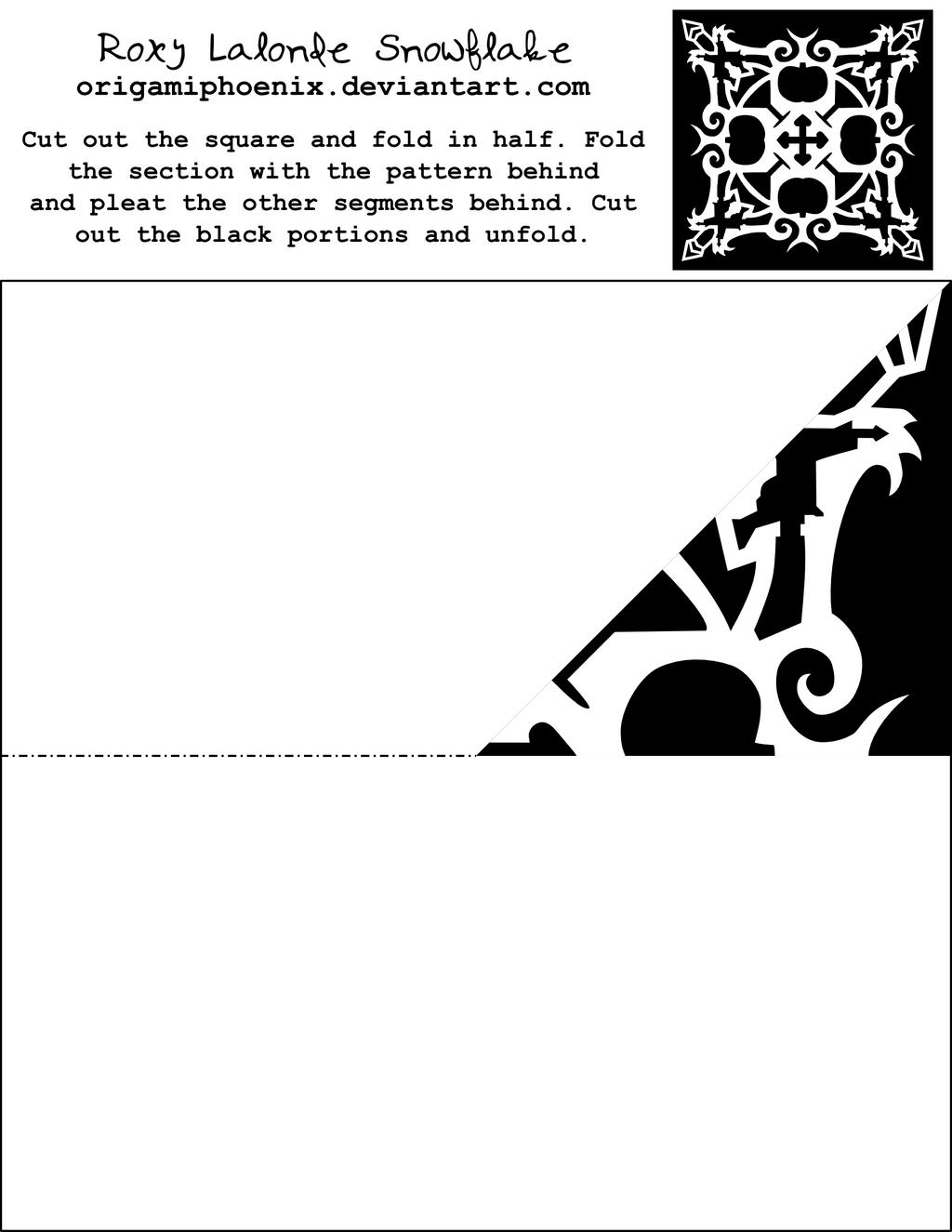 Roxy Lalonde Snowflake Printout by OrigamiPhoenix on DeviantArt
