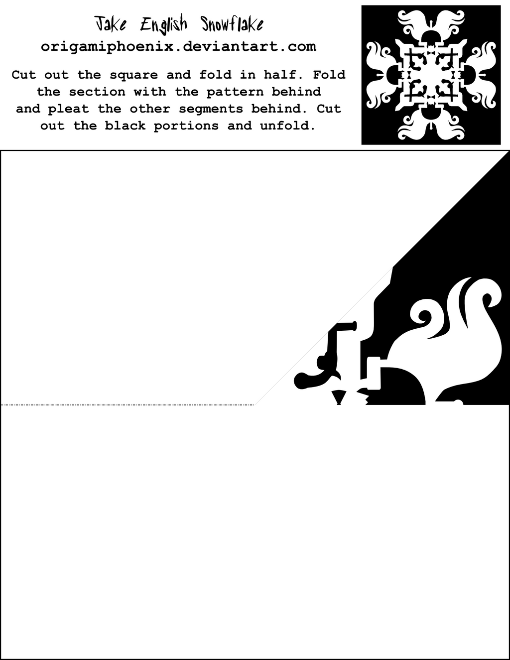 Jake English Snowflake Printout by OrigamiPhoenix on DeviantArt