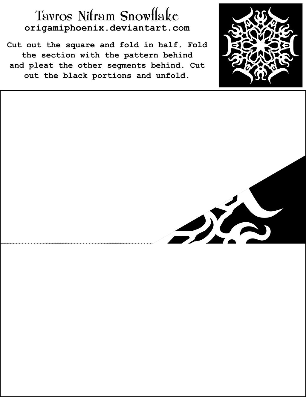 Tavros Nitram Snowflake PrintOut by OrigamiPhoenix on DeviantArt