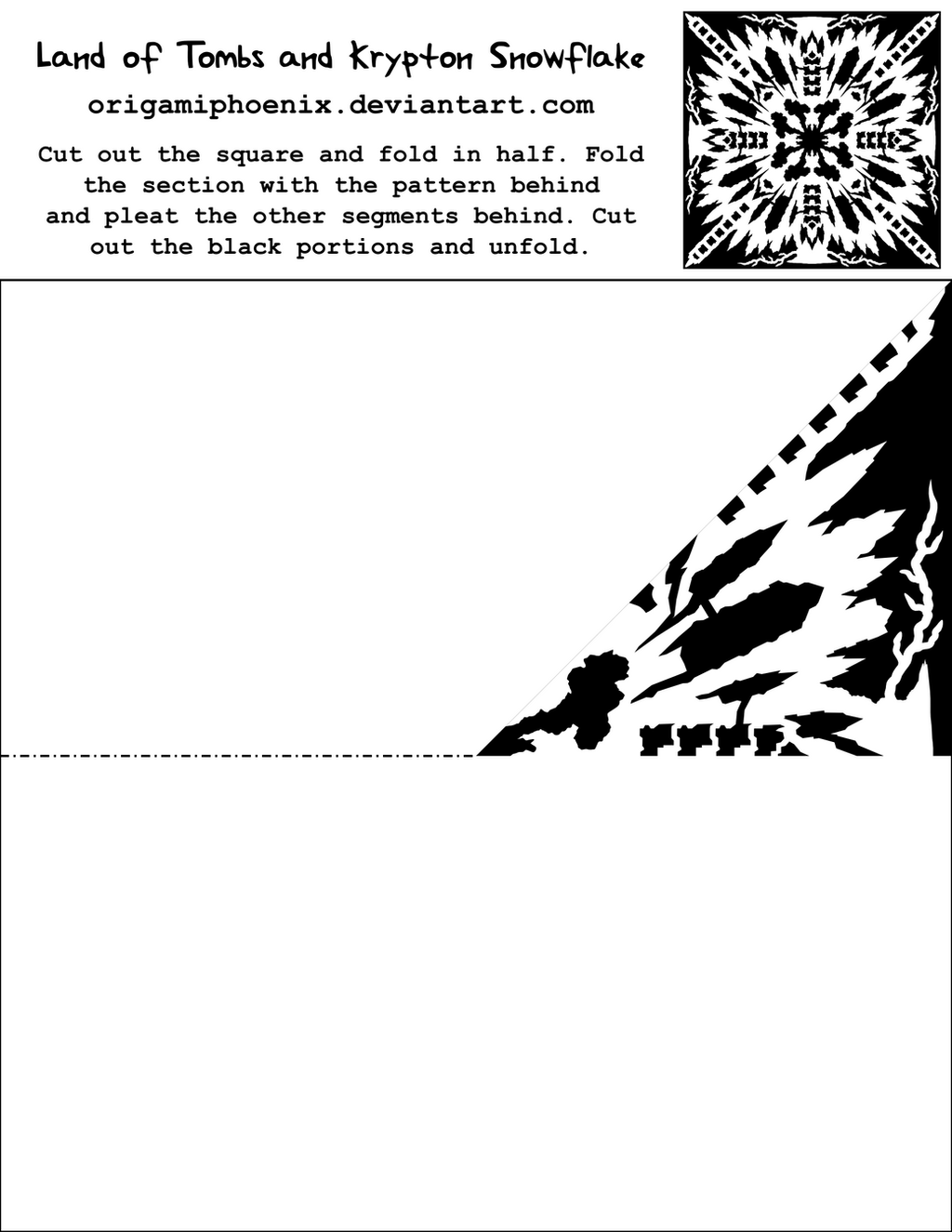 LOTAK Snowflake PrintOut by OrigamiPhoenix on DeviantArt