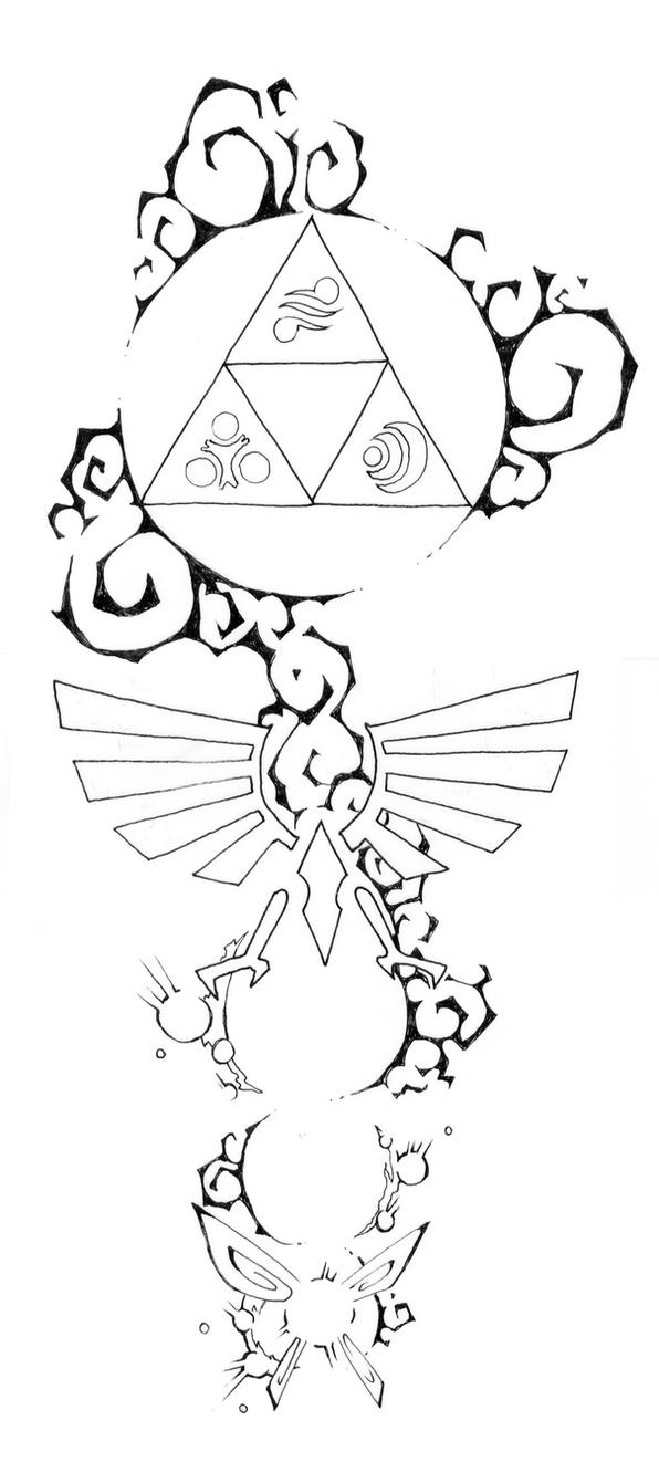 Zelda Tattoo Design 3 By Blue pepi On DeviantArt