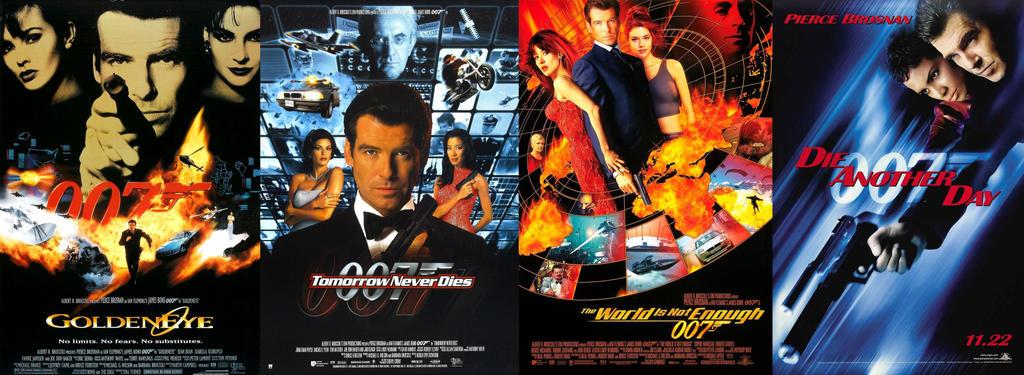 Pierce Brosnan James Bond Movies by ESPIOARTWORK-102 on DeviantArt