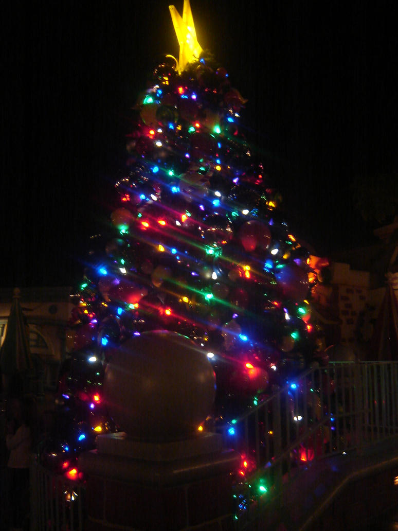 Christmas Tree with Blue Green Red Lights by ESPIOARTWORK-102 on DeviantArt