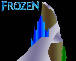 3D Gradient of Frozen Elsa Mountaintop Ice Palace by ESPIOARTWORK-102
