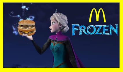 McDonalds Frozen Elsa's Big Mac Lets Go by ESPIOARTWORK-102