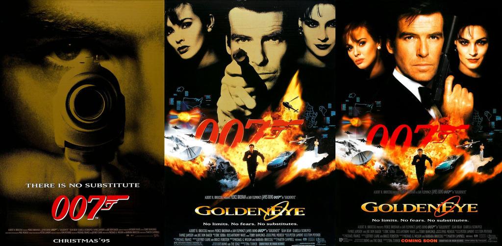 1995 Movie Posters: GoldenEye (1995) Theatrical Movie Posters By ESPIOARTWORK