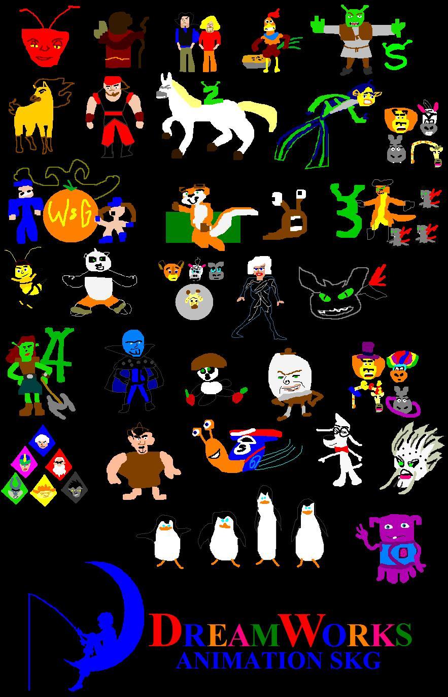 DreamWorks Animation Movie Minimalist 1 by ESPIOARTWORK-102