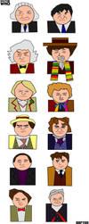 Twelve Doctors Artwork 2 by ESPIOARTWORK-102