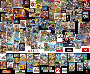 Mario Video Games Collage by ESPIOARTWORK-102