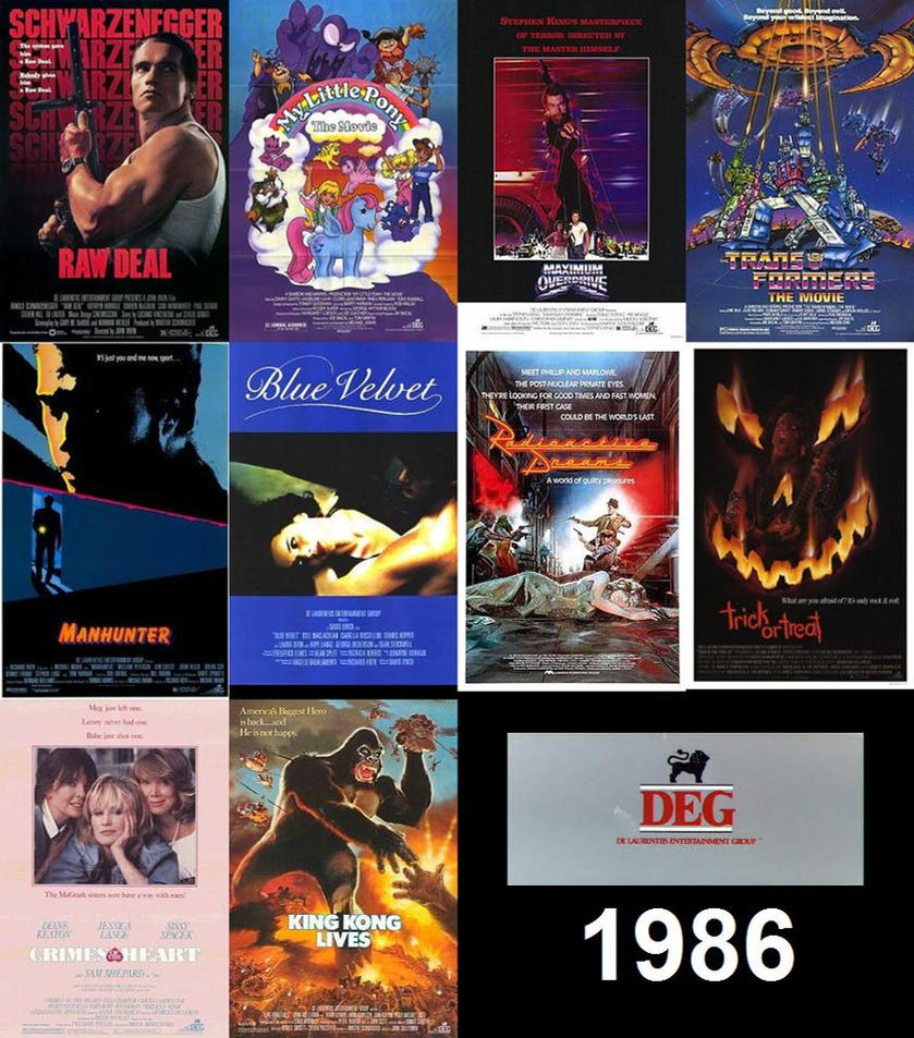 1986 Movies - De Laurentiis Entertainment Group by ESPIOARTWORK-102