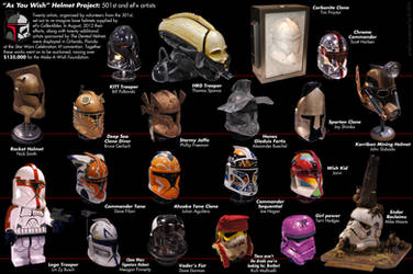 As You Wish Helmet Project 501st Artists