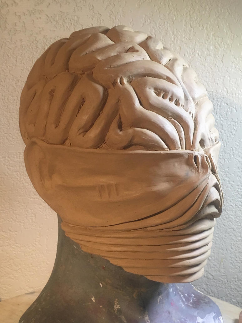 Ghostly Magus helmet sculpt by TheCloneEmperor