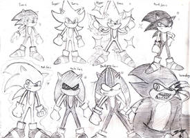 Sketch: Sonic transformations by Diegichigo