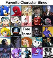 Favorite Character Bingo by 102Ant