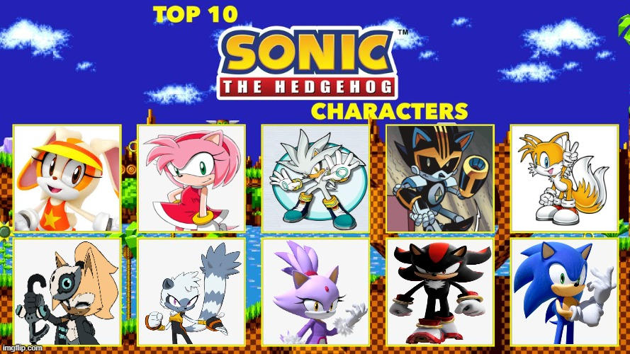 My Top 10 Sonic The Hedgehog Characters By 102ant On Deviantart