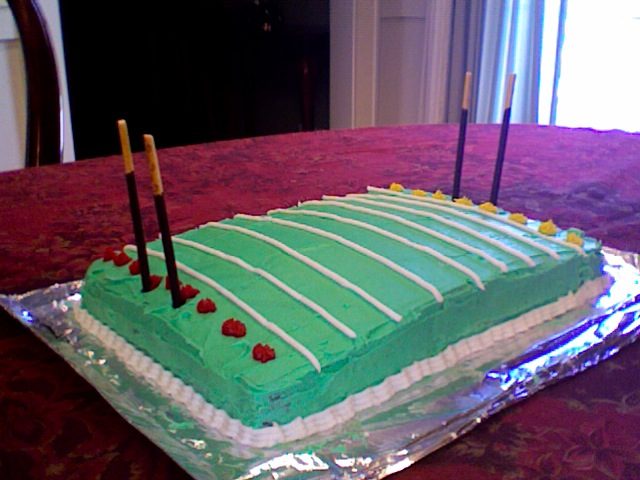 Decorating A Football Pitch Cake