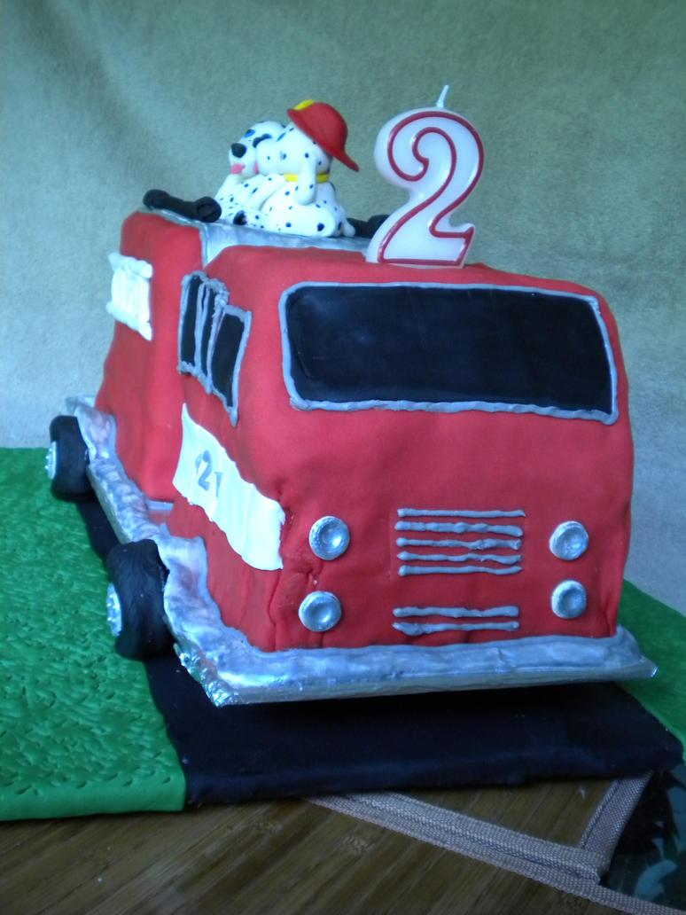 Fire Engine Birthday Cake Designs