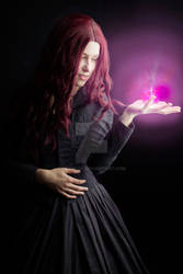 Pink witch stock image