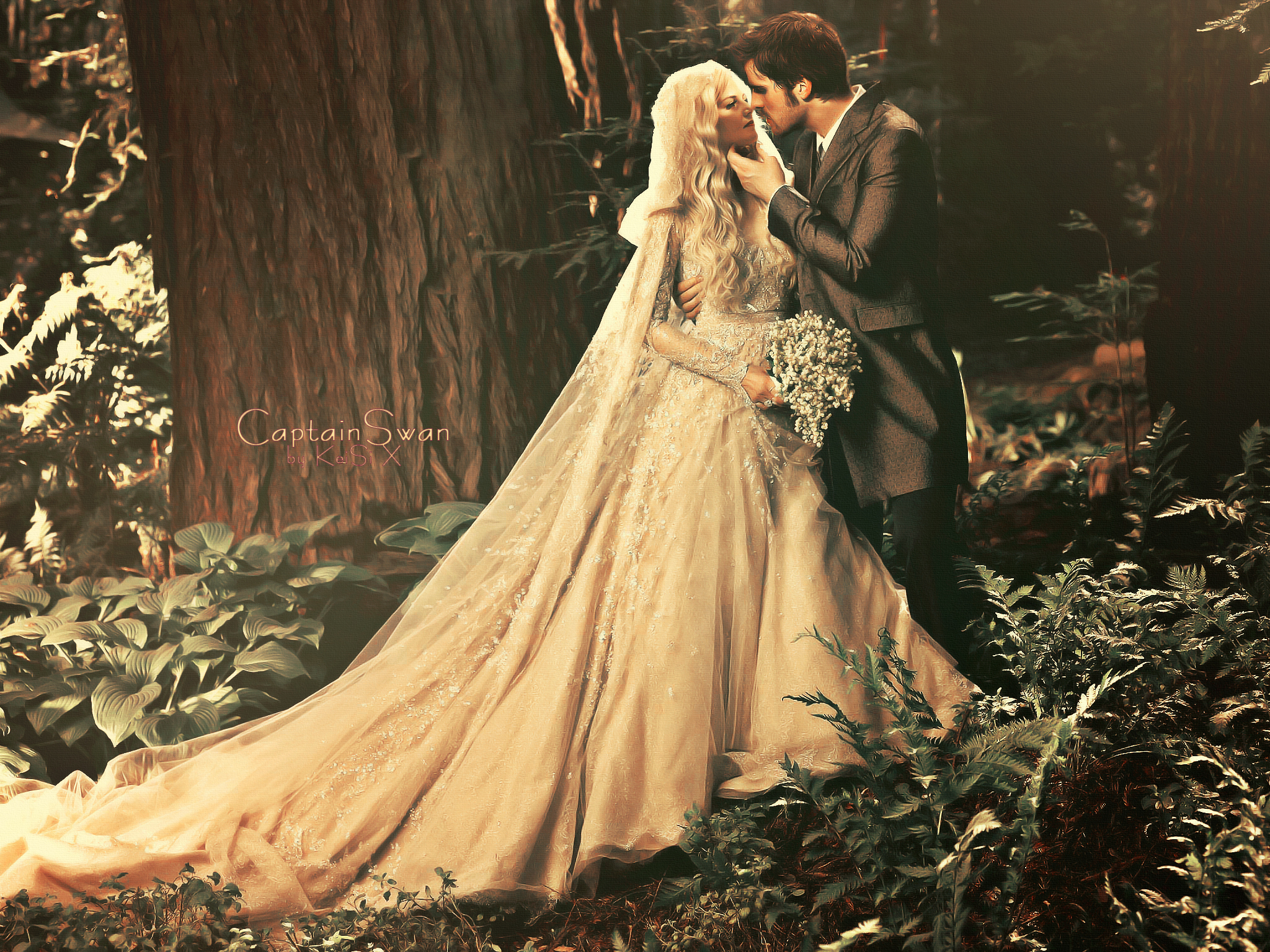 Captain Swan by... Once Upon A Time Wallpaper Captain Swan