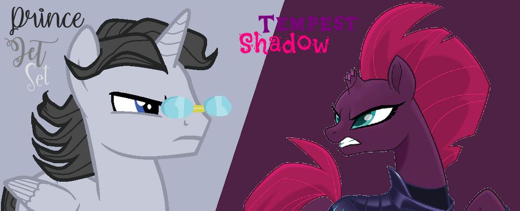 Prince Jet Set vs Tempest Shadow by nalaaashy