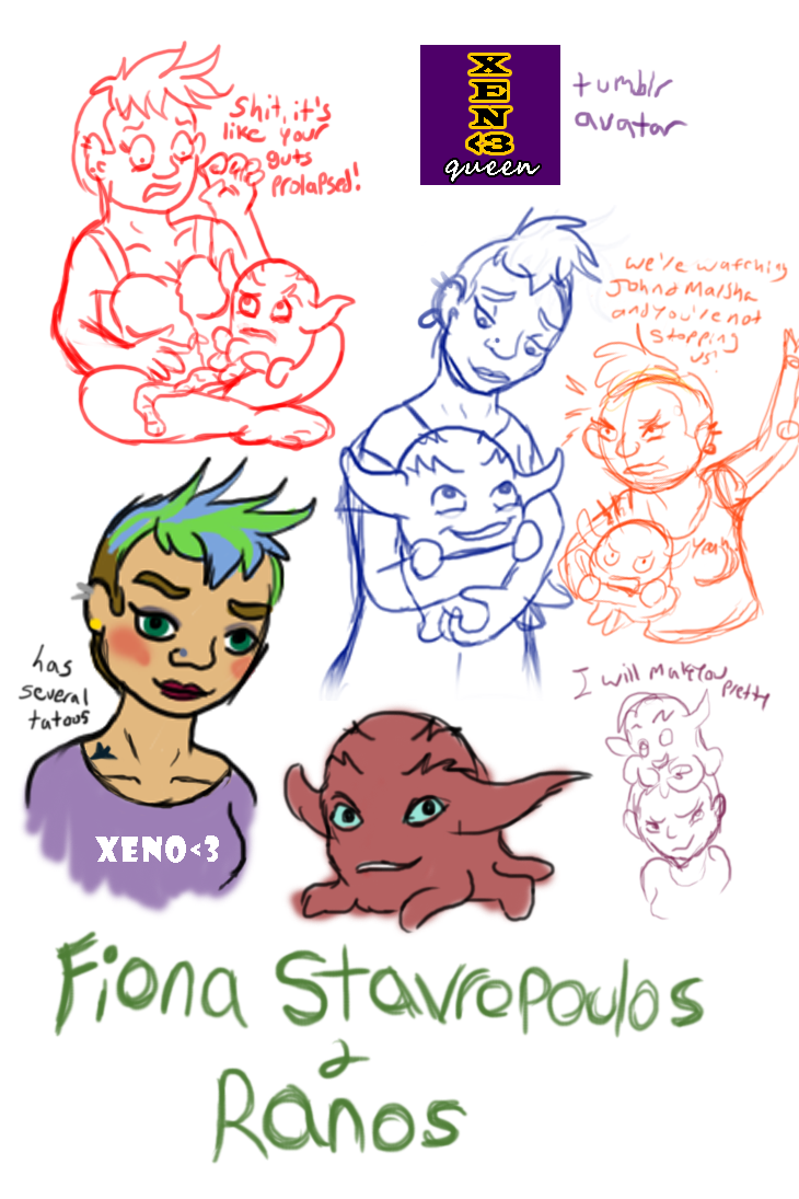 Introducing Fiona and Ranos by Bat-Snake