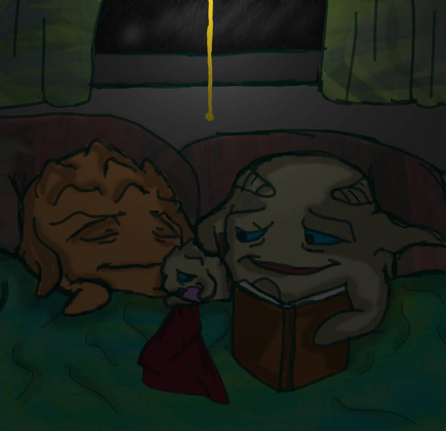 Calming down by Bat-Snake