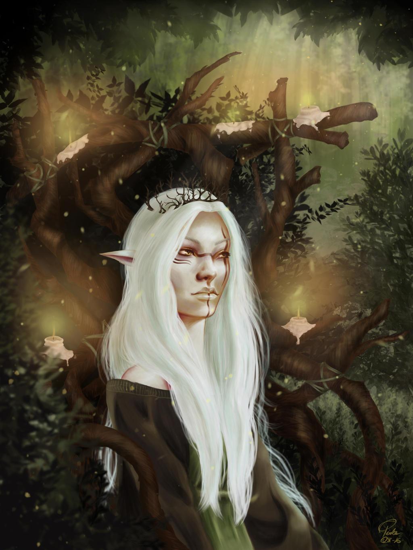Wood Elf Queen by pinkastr