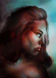 Portrait by pinkastr
