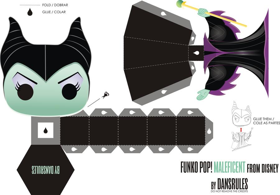 Funko Pop! Maleficent from Disney Papertoy by dansrules