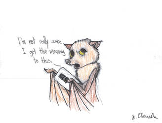 If you teach a fruit bat to play Fruit Ninja... by EndlessWire94