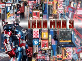 Ironman 3 War Machine Patriot by lokesc