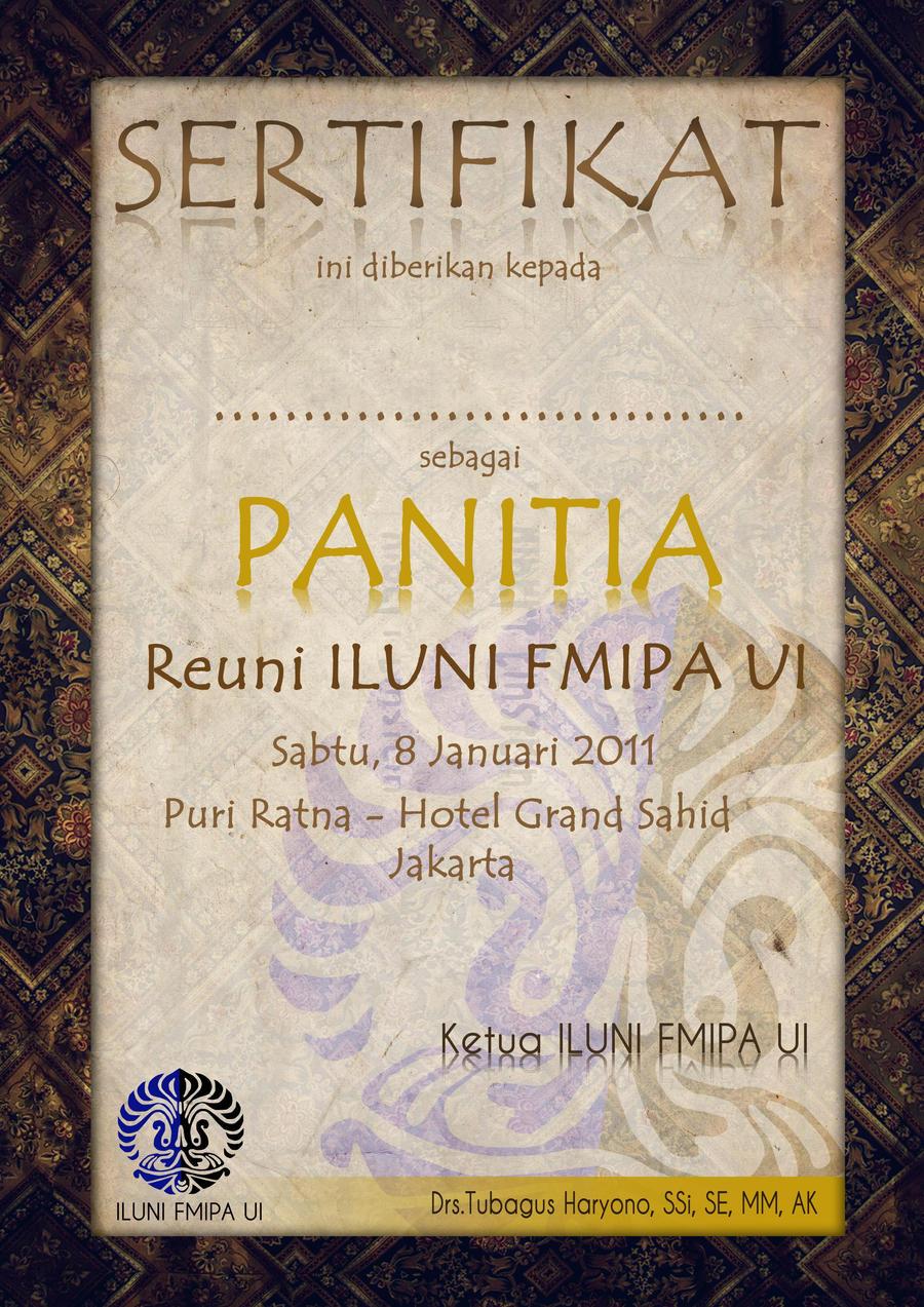 Sertifikat ILUNI by nmramaa