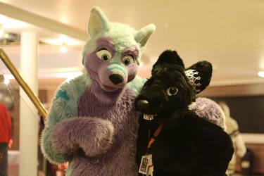 Purple woofy cuddles