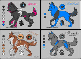 Multi Wolf Ref 3 by bluesunsetfox