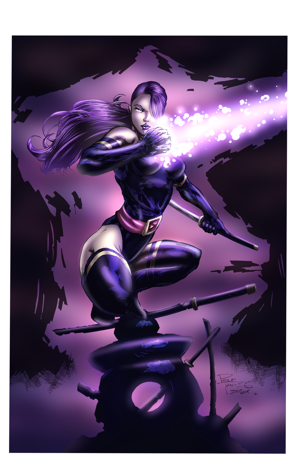 Marvel Psylocke Art Psylocke by Ironcid on...