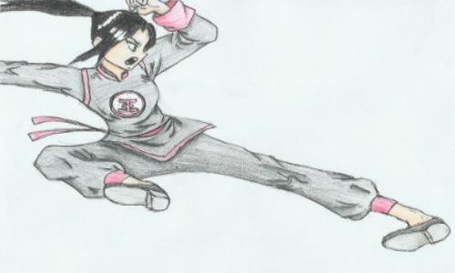 Karate Kicking Girl By Y003 On Deviantart
