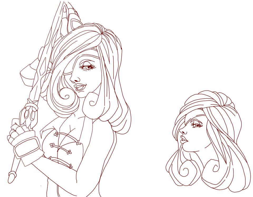 WIP - Dissidia ace's entry - General Beatrix by Kaysa