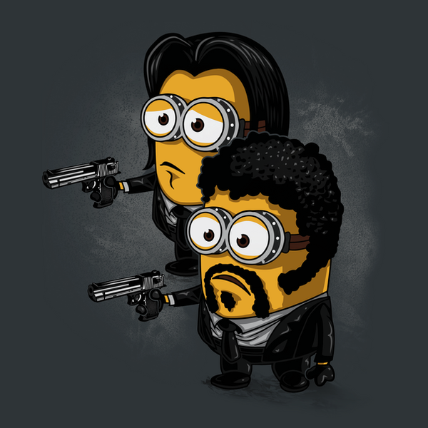 Vincent, Jules and the Minions by ArashiYuka
