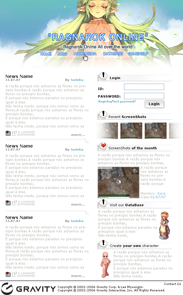 Ragnarok Online Fan Site by sorinha
