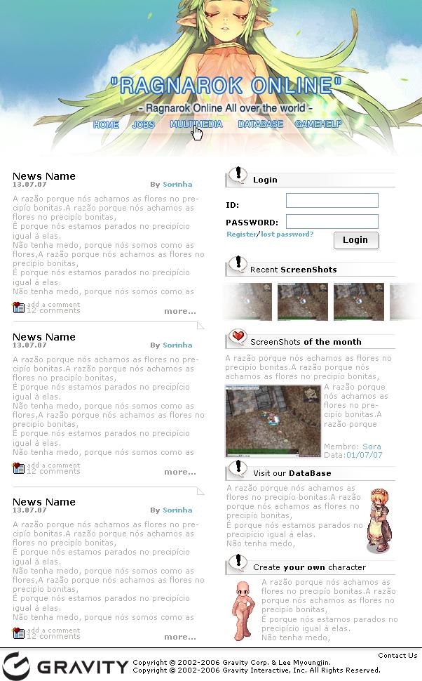 Ragnarok Online Fan Site by sorinha