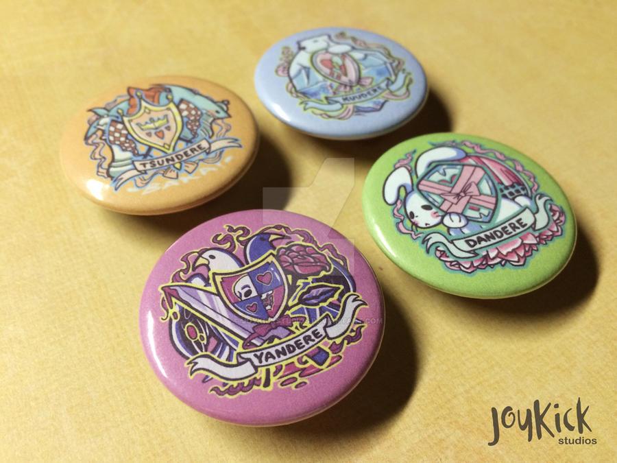 Dere Crest Pinback Buttons by joykickstudios