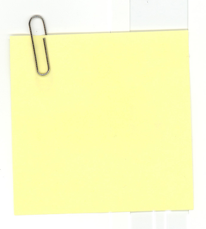 Gallery Yellow Sticky Note Clip Art