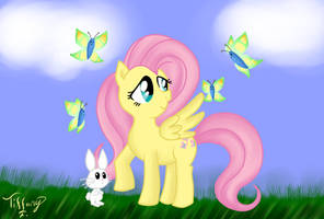 Fluttershy with Butterflies by iTiffanyBlue