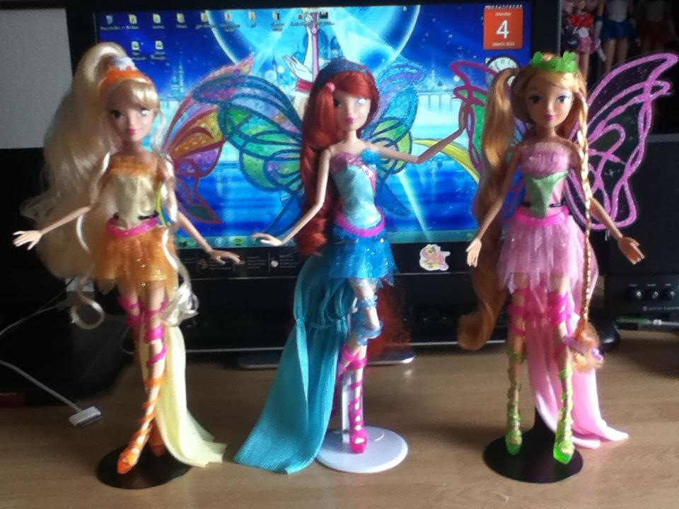 Winx Club Harmonix Bloom Flora And Stella Dolls By Itiffanyblue On