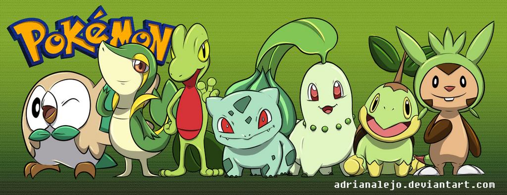 Pokemon Grass Starters by adrianalejo on DeviantArt