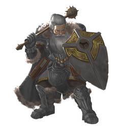 Commission - Dwarf Cleric