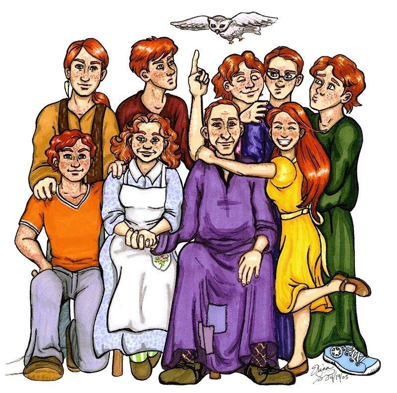 Weasley Family Portrait by VanishingShmink on DeviantArt